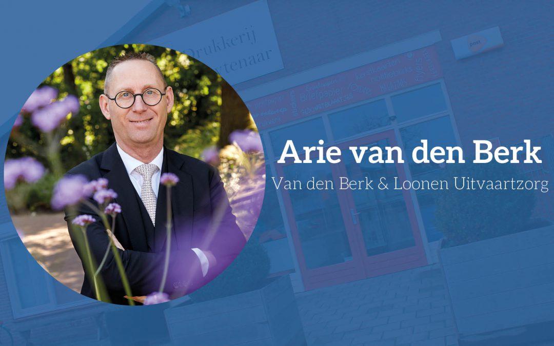 Arie van den Berk vertrouwt blind op Drukkerij Kluytenaar
